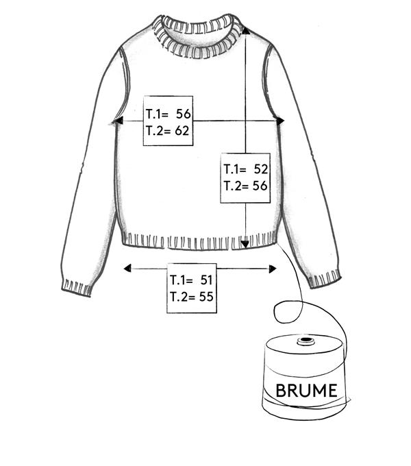 Correspondance de tailles du pull Brume