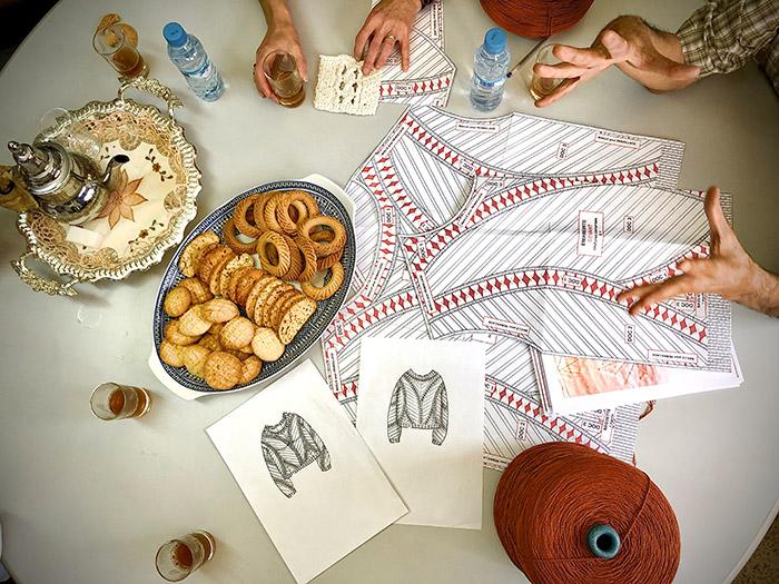 Créer, composer avec nos matières et nos tricotages