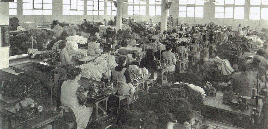 Maille française, ateliers d'ouvriers qualifiés