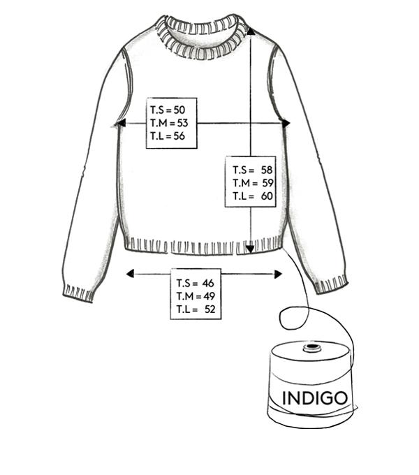 Correspondance de tailles du pull Indigo